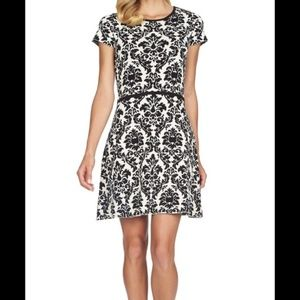 {CeCe} Jacquard Knit A-Line Dress NWT |